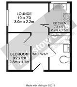 Floorplan 1 of 1 for Flat 11, Runnymede Court, Runnymede Road