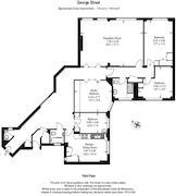 Floorplan 1 of 1 for Flat 100, Bryanston Court, George Street