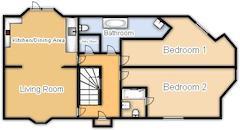 Floorplan 1 of 1 for Flat 2, Newton House, Warren Street