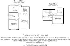Floorplan 1 of 1 for 33 Parkfield Crescent