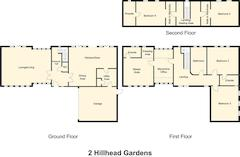 Floorplan 1 of 1 for 2 Hill Head Gardens