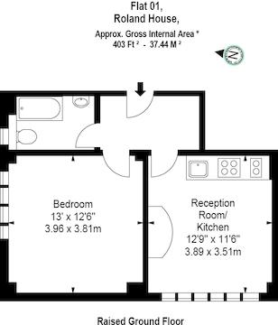 403 Sq Ft (1 Bed)