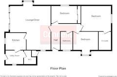 Floorplan 1 of 1 for Old Moss Cottage, Standalone Warren