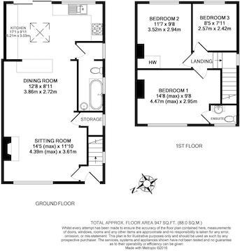 8 Smiths Lane, Windsor, Berks, Sl4 5Pd - Floor Pla