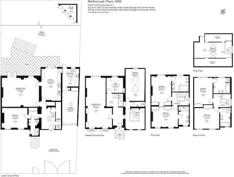6 bed semidetached house for sale in Marlborough Place London NW8 – Marlborough House Floor Plan