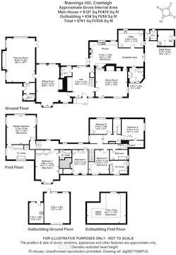 House. Estate Agency Cranleigh Mannings Hill Floor
