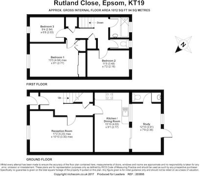 Floor Plan For 29 Rutland Close.Jpg