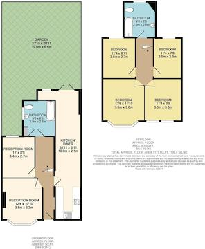 Floor Plan - 64 Ellenborough Road, Haringey, N22 5