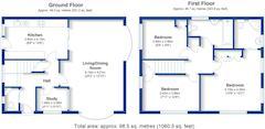 Floorplan 1 of 1 for 1 Bowers Croft