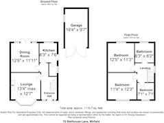 Floorplan 1 of 1 for 70 Wellhouse Lane