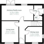 Floorplan 1 of 2 for Old Crow Hall Lane