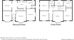Floorplan 1 of 1 for South Moss House, Pasture Lane