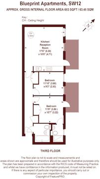 2 bed flat for sale in blueprint apartments 16 balham grove london floorplan malvernweather Choice Image