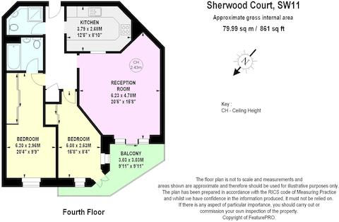 2 Bed Flat For Sale In Sherwood Court Chatfield Road London SW11