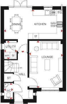 Kingsley Ground Floor Plan