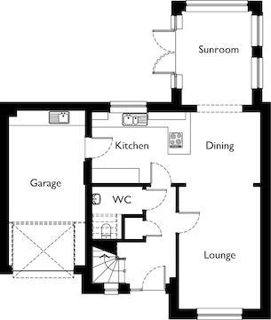 Ground Floor Open Plan With Sunroom