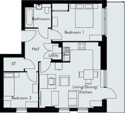 Apartment 13 Floorplan